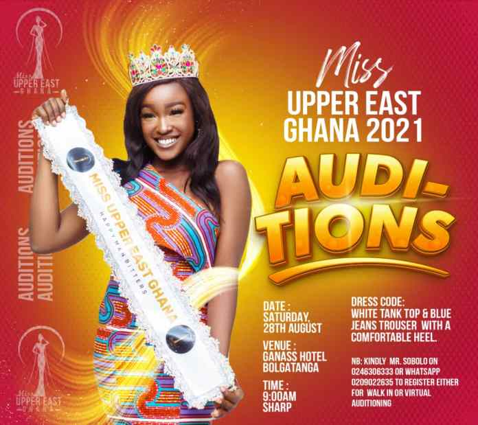 Miss Upper East Ghana 2021 Set For Auditions|Beauty Pageants