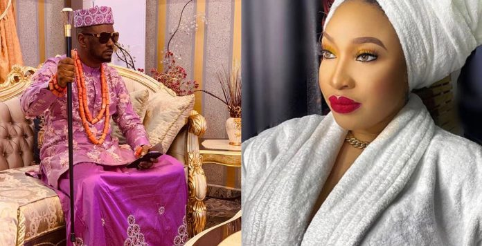 Audio: Tonto Dikeh's pleading with her ex-lover, Prince Kpokpogri, not to dump her after she was allegedly found cheating.