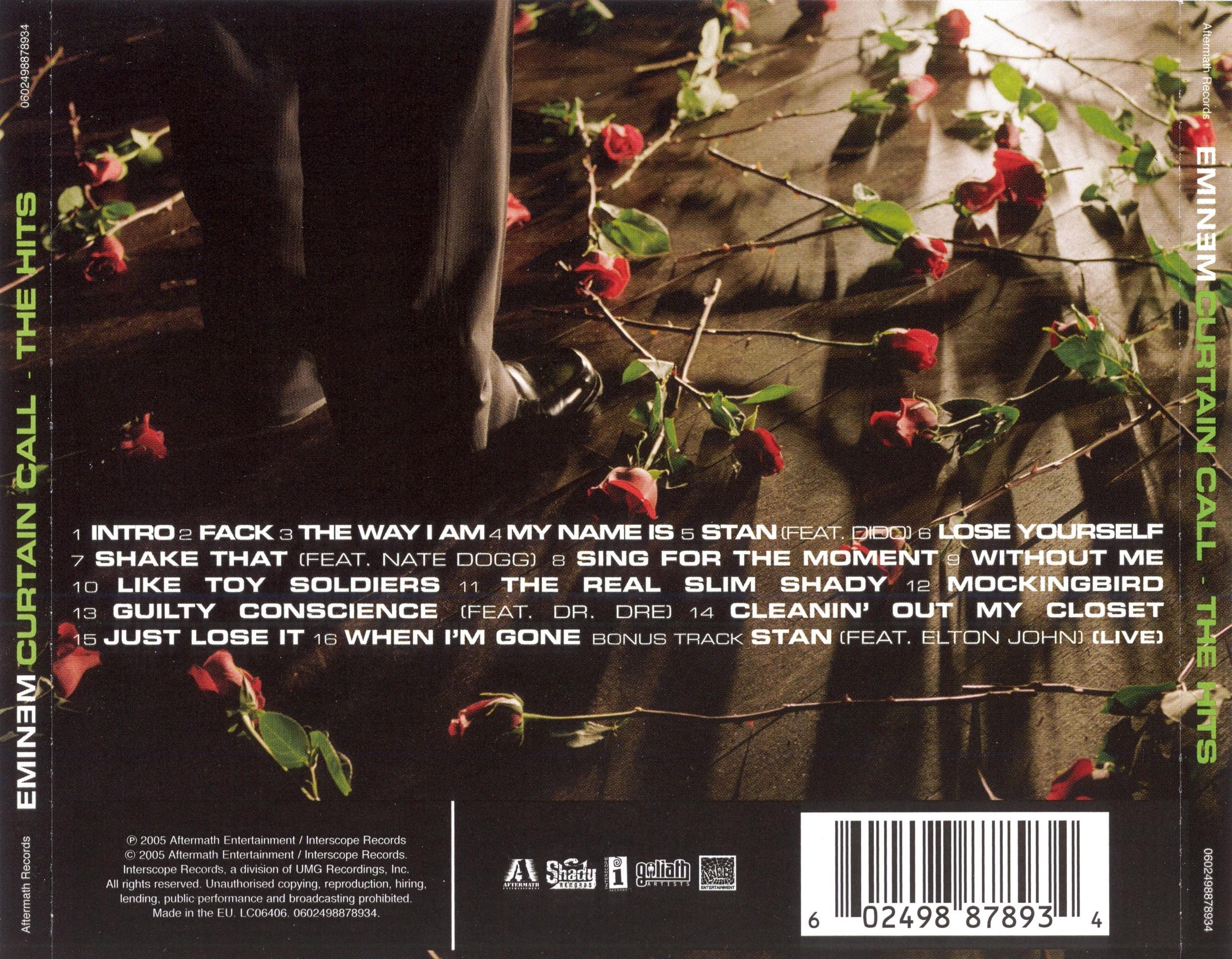 Digipak Analysis Curtain Calls The Hits Eminem A2 Media