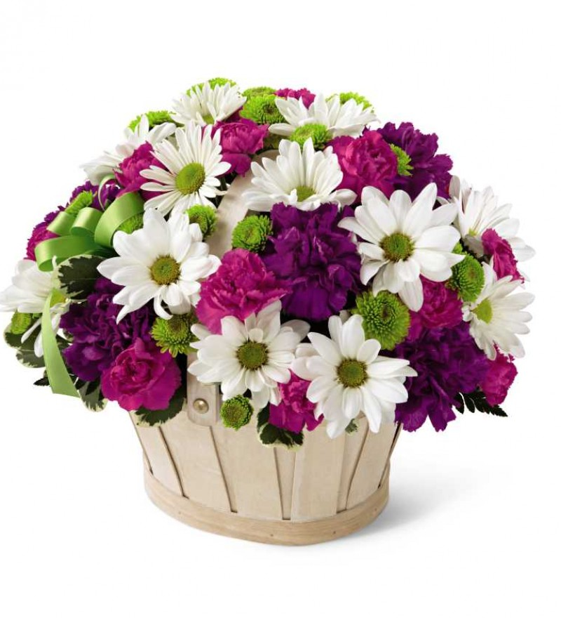 SarniaFlowers The FTD Blooming Bounty Basket