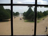 Viewing the gardens from inside the Palace