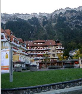 Traffic free Wengen with funicular