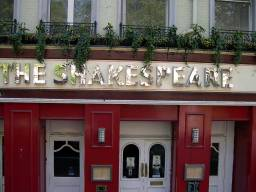 THE SHAKESPEARE - BUCKINGHAM PALACE ROAD, named after father of the Bard