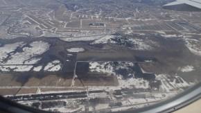 飛行機から見たサロベツ