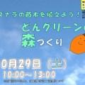 10月29日 (土) どんグリーンの森づくり ~ ミズナラ植樹イベントのご案内!