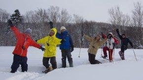 豊富温泉スノーシュー特設コースを歩いてきました!