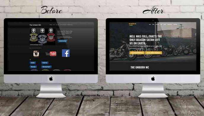 Responsive website redesign for the Unborn me by Sarrie Web Designs