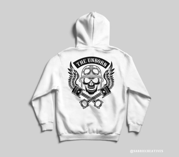 limited edition unborn hoodie, sweatshirt, back