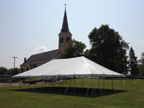 30′ x 50′ Classic Pole Tent – Sartell Tent Rental