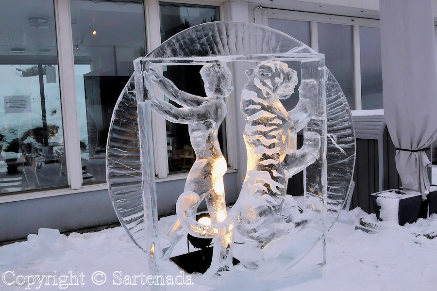 Ice Sculpture in Helsinki 2009