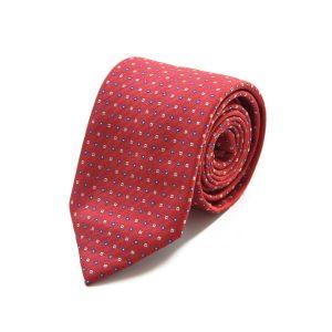 Kόκκινη μεταξωτή γραβάτα με σχέδιο