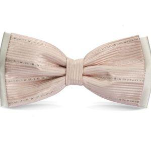 Λευκό και ροζ μεταξωτό παπιγιόν
