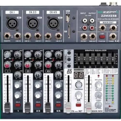 Mixer 5 canali DSP e Bluetooth