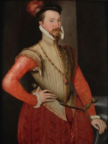 Elizabeth's favorite Sir Robert Dudley, looking like a favorite