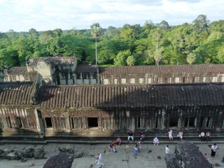 Viewed from the top of Angkor Wat