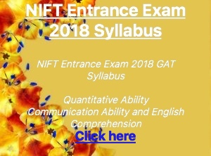 nift entrance exam 2018 syllabus