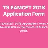 TS EAMCET APPLICATION FORM 2018