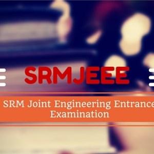 SRMJEEE 2018 Application Form