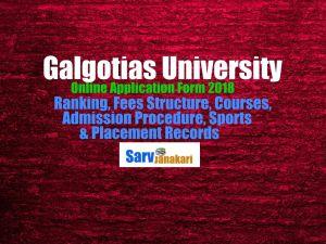 galgotias university application