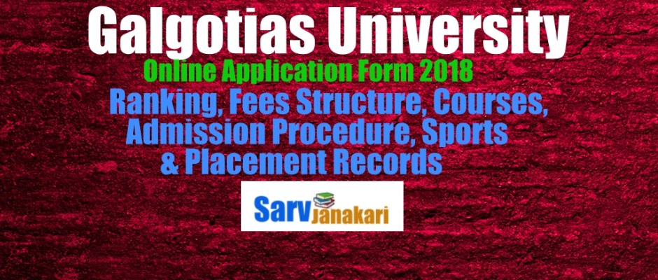 galgotias university direct admission