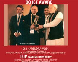 mr suneel galgotias receiving awards from pm narendra modi