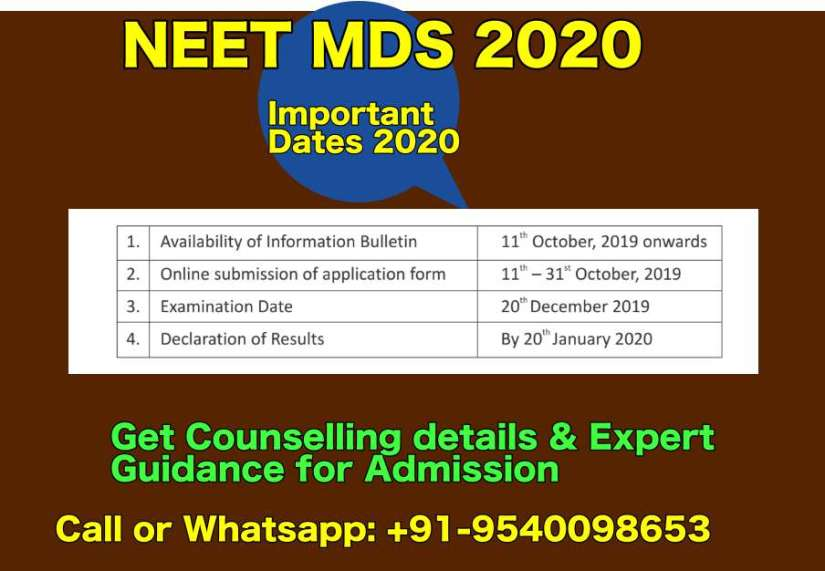 MDS Admission Dates