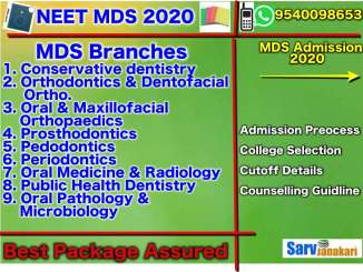 MDS Admission in India