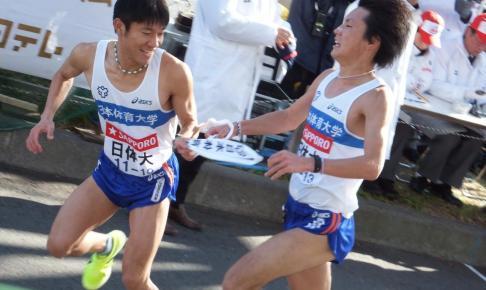 箱根駅伝を走る日体大選手