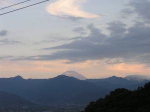 我が家から見える夕焼け富士2016.8.26