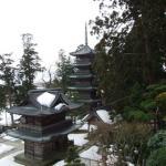 善寶寺本堂から観た五重塔