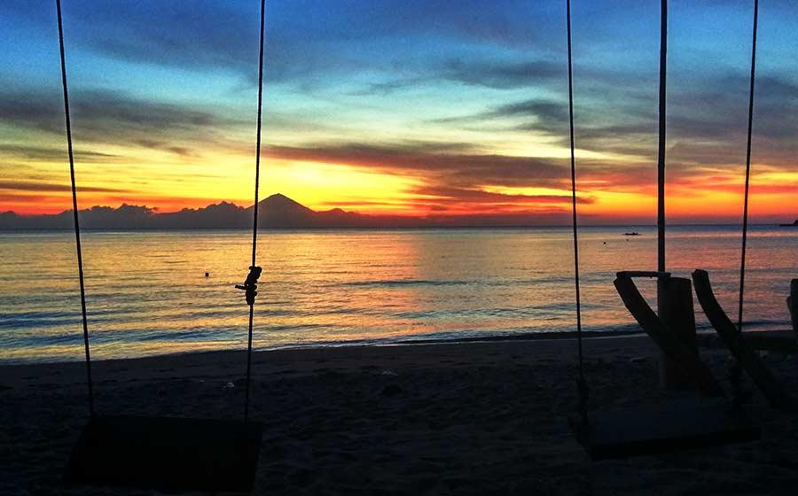 sunset lombok pantai nipah