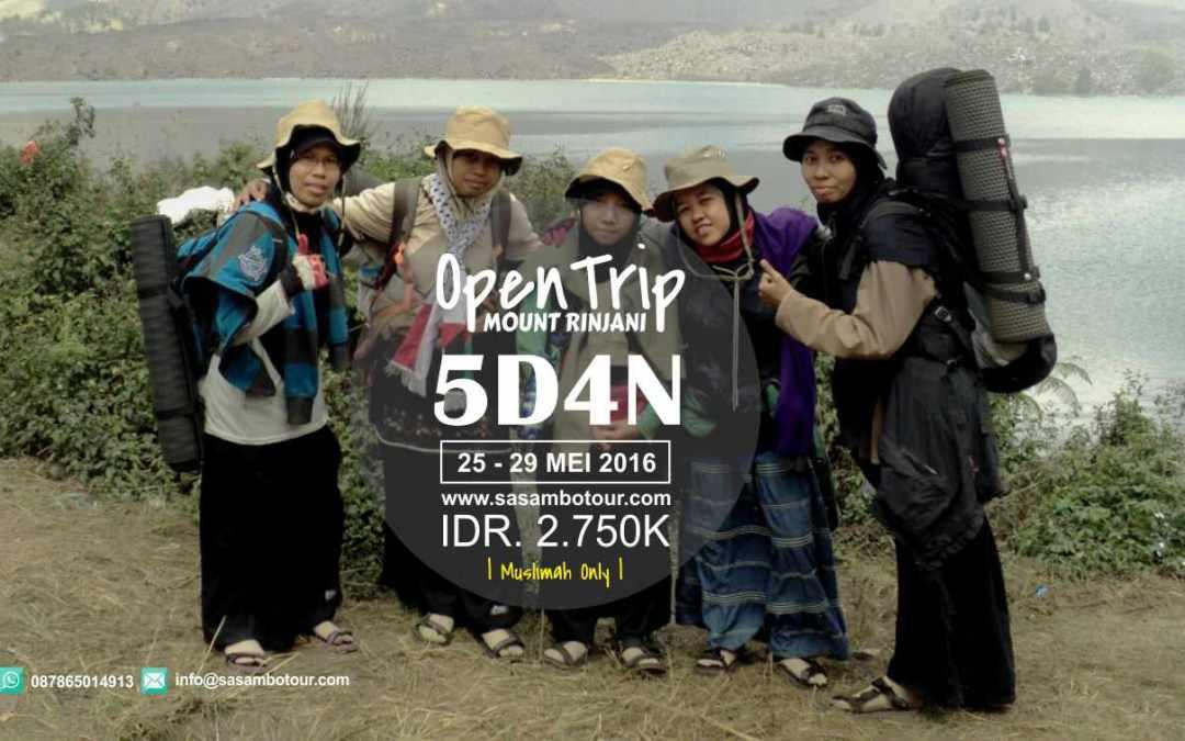 Open Trip Rinjani Spesial For Muslimah Mei 2016