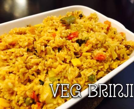 Vegetable Brinji with coconut milk