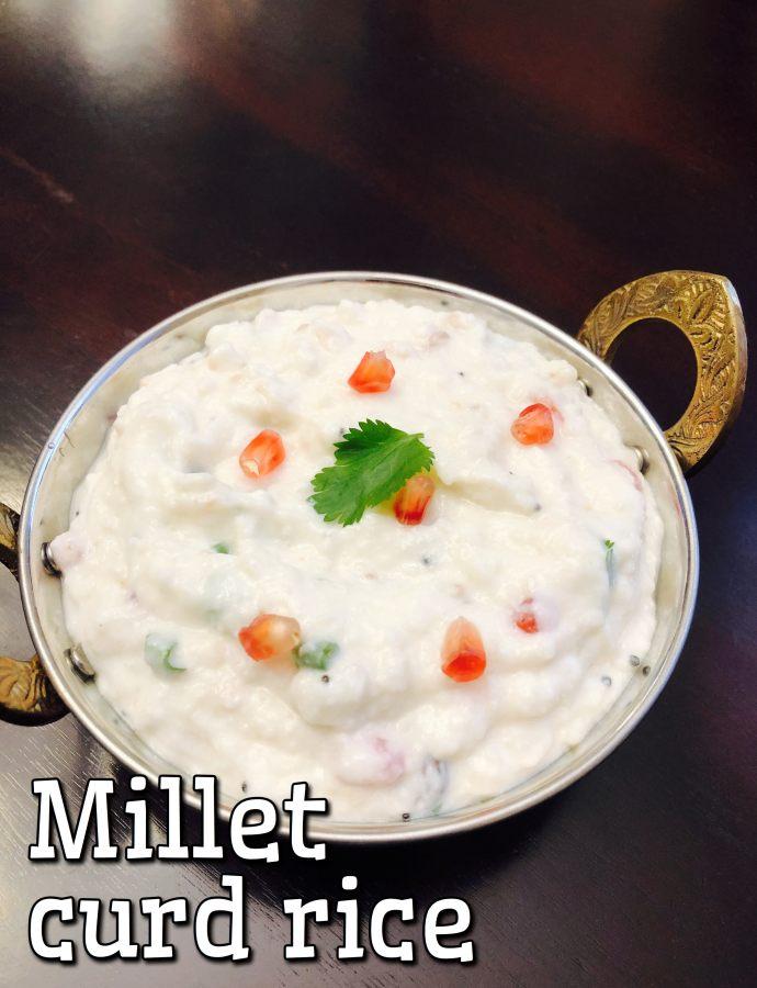 Samai Curd Rice Millet curd rice