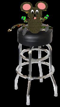 mouse on a bar stool