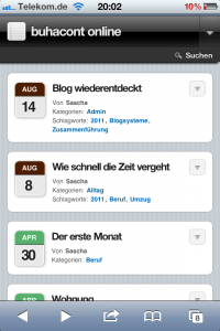 Screenshot von WPtouch