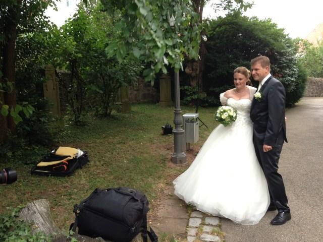 Das Brautpaar beim Foto-Shooting