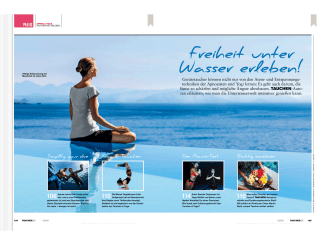 Diving Special in January January 2018: I have tried underwater yoga in self-experiment.