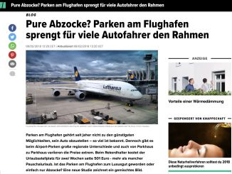 Post about parking at the airport in the Huffington Post Germany.