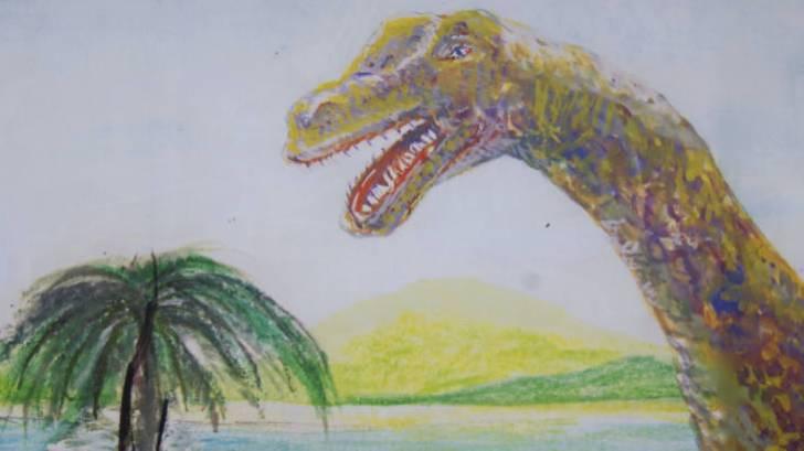 下京町の恐竜看板