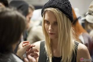 Backstage Sasha Glybina Mercedes-Benz Fashion Week Kiev SS 2012