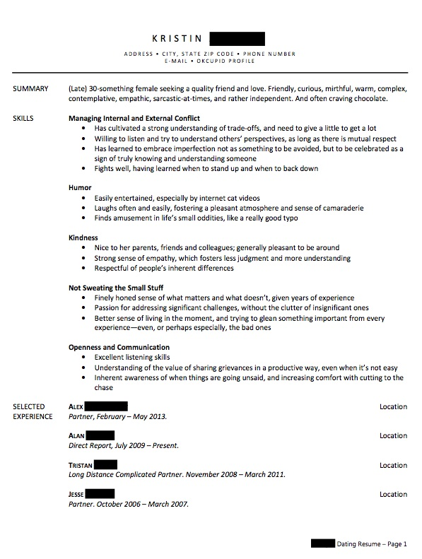 Write A Relationship Resume To Combat Your Single Shame
