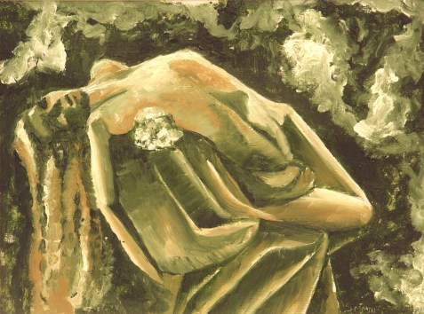 Grace of the fallen 2, 2003. Oil on paper. Private collection.
