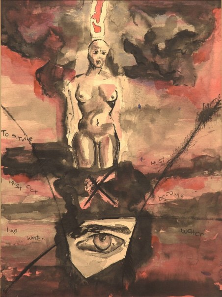 Soul Hiroshima (2001) Ink on paper. Private collection.