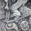 Sphinx. Pencil on paper 2013. Private collection.