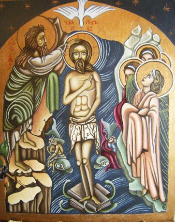 "The Baptism of Christ, from the ""Saints of the Word"" collection, 2015"