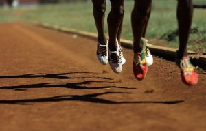 Kenyan athletes train at Eldoret's Chepkoilel stadium