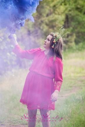 Tween Girl Birthday - Smoke Bomb - Sasha Stanley Photography - Atlanta, TX