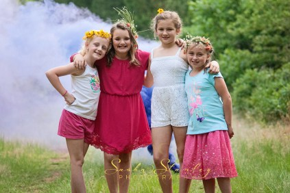 Tween Girl Friends - Smoke Bomb Birthday Party - Sasha Stanley Photography - Atlanta, TX