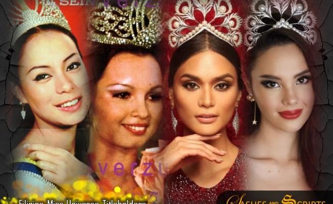 Trivia On The Filipina Miss Universe Winners Sashes